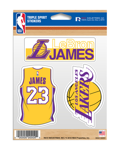 Los Angeles Lakers LeBron James Triple Sticker