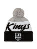 LA Kings Knit Script Pom Beanie