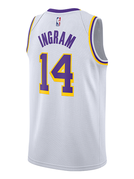 2bdbb7f3c80 nike. Los Angeles Lakers Brandon Ingram 2018-19 Association Edition Swingman  Jersey