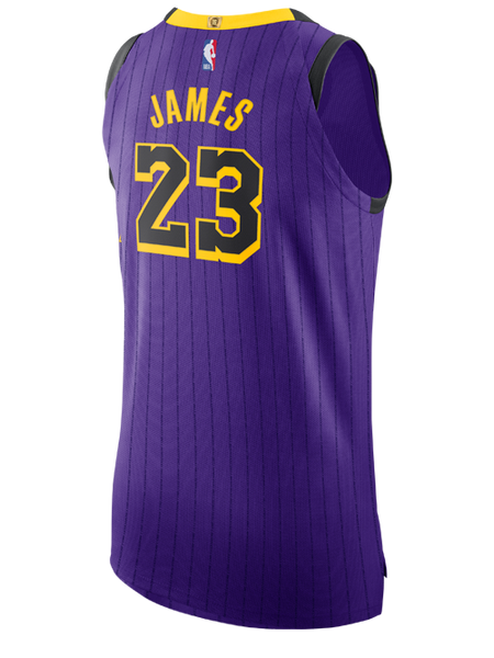 52e28e124 Los Angeles Lakers City Edition LeBron James Authentic Jersey