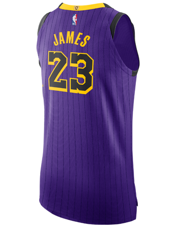 07781b4c272 Los Angeles Lakers City Edition LeBron James Authentic Jersey