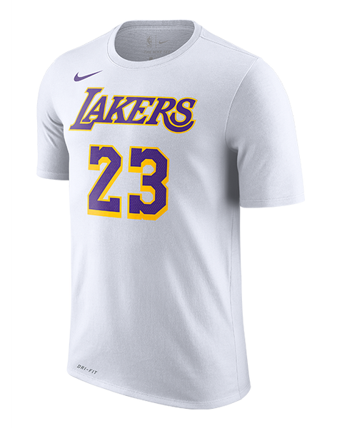 a8054687dd8 Los Angeles Lakers LeBron James Association Edition Player T-Shirt. Quick  shop