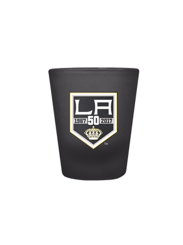 Los Angeles Kings 50th Anniversary 2oz Color Shot Glass