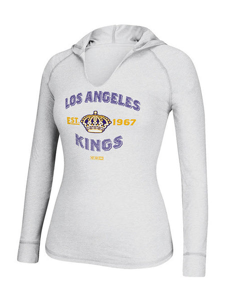 Los Angeles Kings Women's CCM Hockey Arches Hooded Long Sleeve - T-Shirt