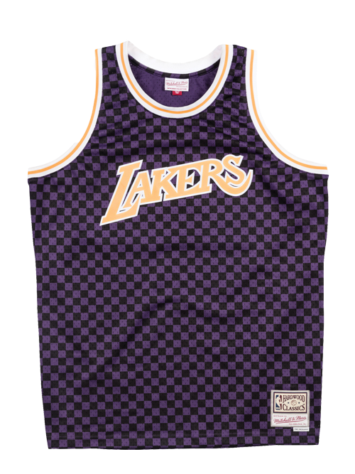 Los Angeles Lakers Checkered Swingman Jersey