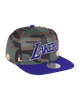 Los Angeles Lakers Camo Crown Cover Snapback Cap