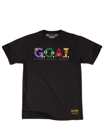 Los Angeles Lakers Kareem Abdul-Jabbar The Goat T-Shirt - Multi