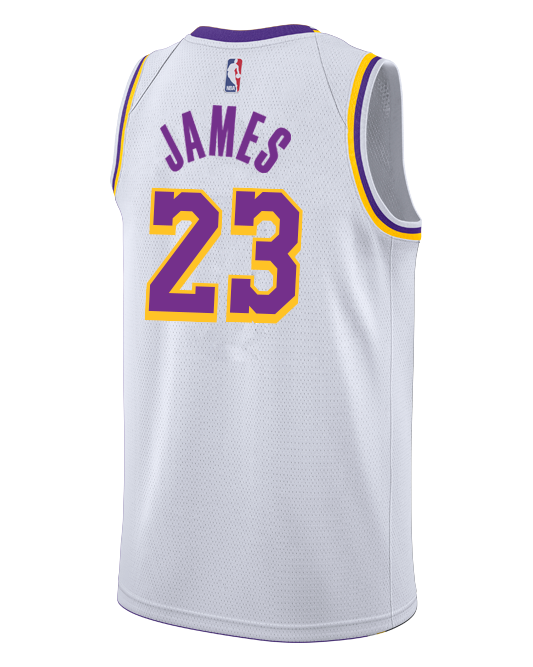 1850b000879 Los Angeles Lakers LeBron James 2018-19 Association Edition Swingman J –  TEAM LA Store