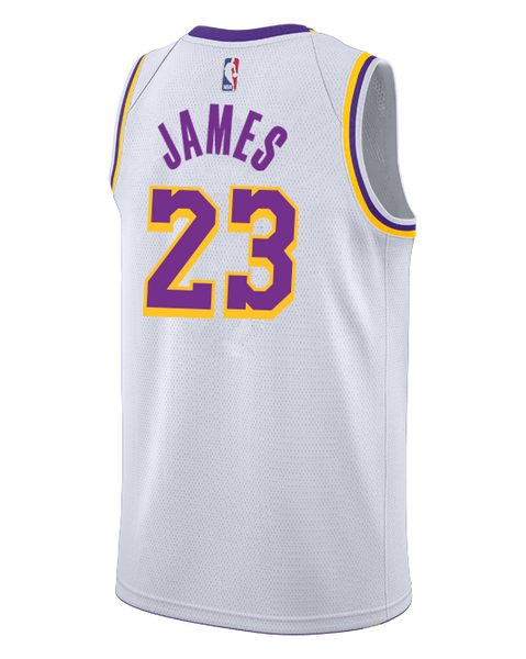 803b8fa9d Los Angeles Lakers LeBron James 2018-19 Association Edition Swingman Jersey