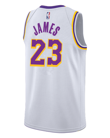 a0def62c8ac4 Los Angeles Lakers LeBron James 2018-19 Association Edition Swingman Jersey