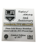 LA Kings 50th Anniversary Shield Bronze Minted Coin