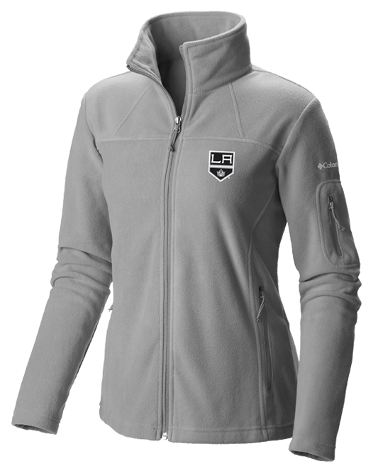 LA Kings Women's Give and Go Full Zip - Grey