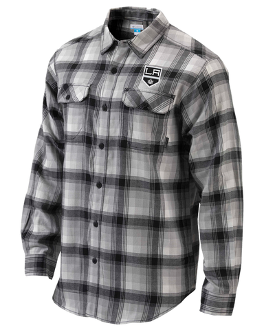 LA Kings Flare Gun Flannel Long Sleeve - Black