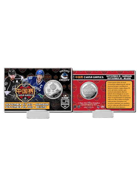 LA Kings China Games Silver Coin Card