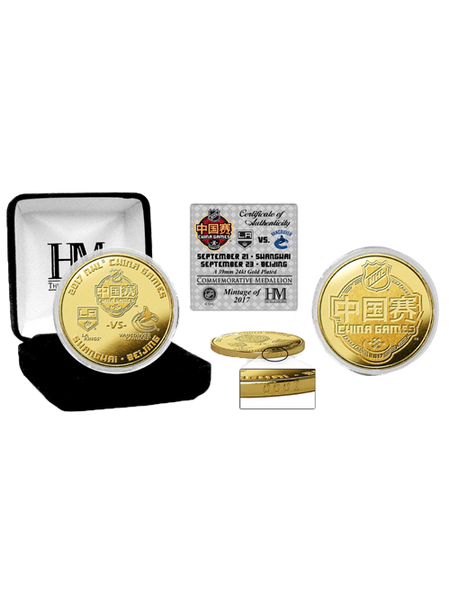 LA Kings China Games Gold Mint Coin