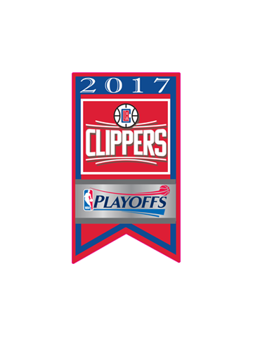 LA Clippers Playoffs Team Banner Pin