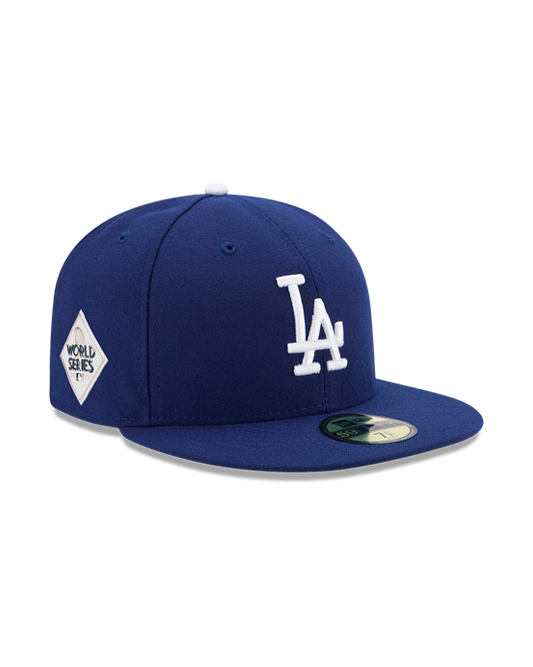 brand new 2dba3 e1758 Los Angeles Dodgers World Series 59FIFTY Patch Fitted Cap