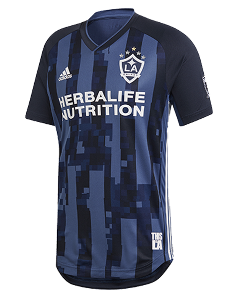 1c3bb216a LA Galaxy Navy Night Authentic Secondary Jersey