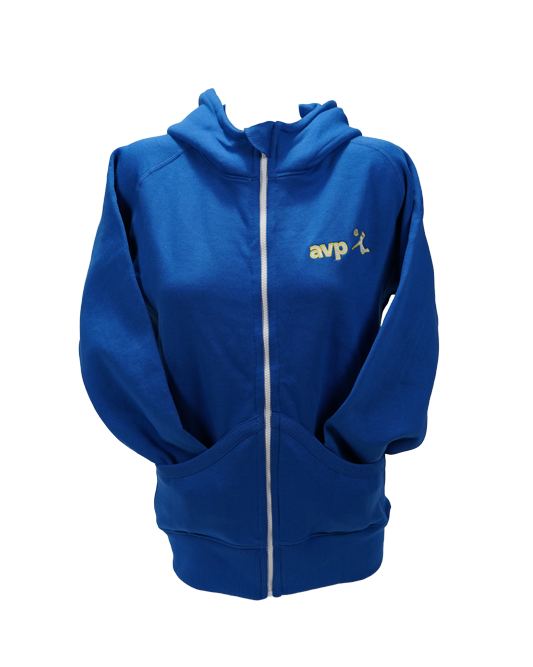 AVP Tour Women's Yarn Dyed Hoodie - Blue