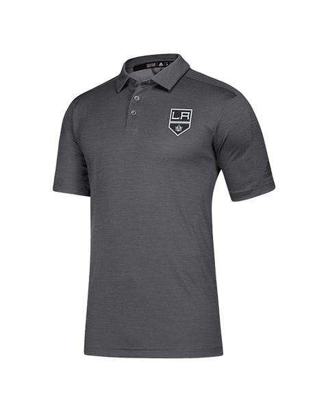 LA Kings Game Mode Short Sleeve Polo - Grey