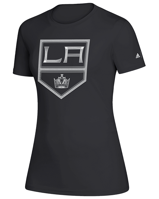 LA Kings Womens Fine Line Creator Short Sleeve Tee - Black
