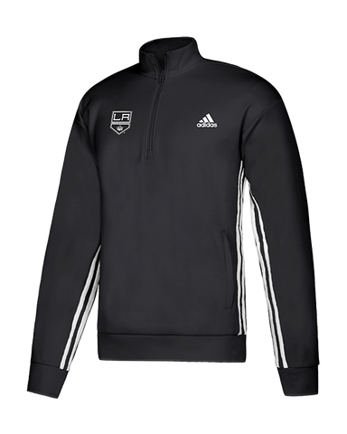 LA Kings Must Have 3 Stripes Quarter Zip - Black/White