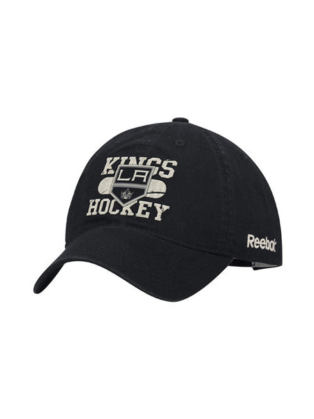 Los Angeles Kings Face Off Locker Room Logo Wordmark Adjustable Slouch Cap