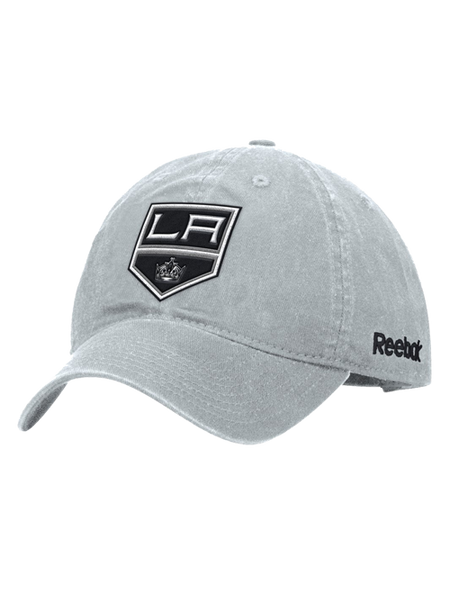 Los Angeles Kings Basic Shield Logo Adjustable Slouch Cap - Grey