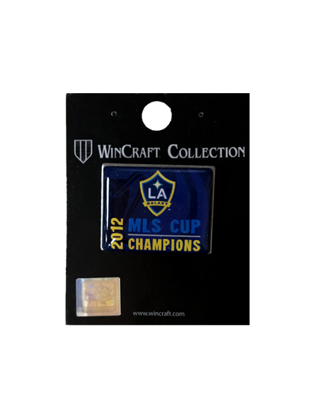 Galaxy 2012 MLS Cup Champions Rectangle Pin