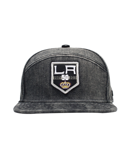LA Kings 50th Anniversary Limited Edition Denim Cotton Cap