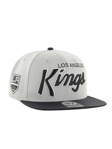 Los Angeles Kings Crosstown Script Shield Two Tone 47 Captain