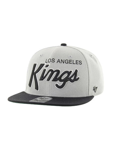 LA Kings Crosstown Script Shield Two Tone 47 Captain