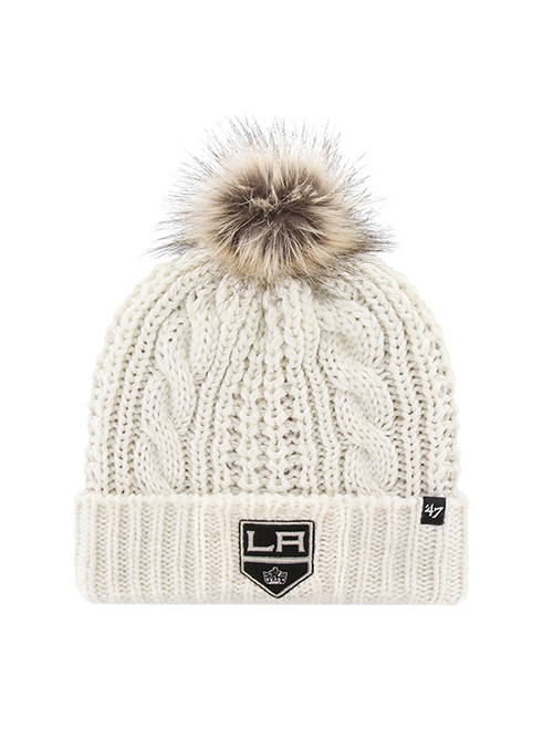 LA Kings Womens White Meeko Knit Hat - White