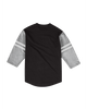 LA Kings Henley Long Sleeve T-Shirt - Black/Grey