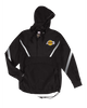 Los Angeles Lakers Half Zip Anorak Jacket - Black/Grey
