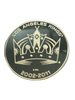 LA Kings 50th Anniversary Shield Gold Minted Coin