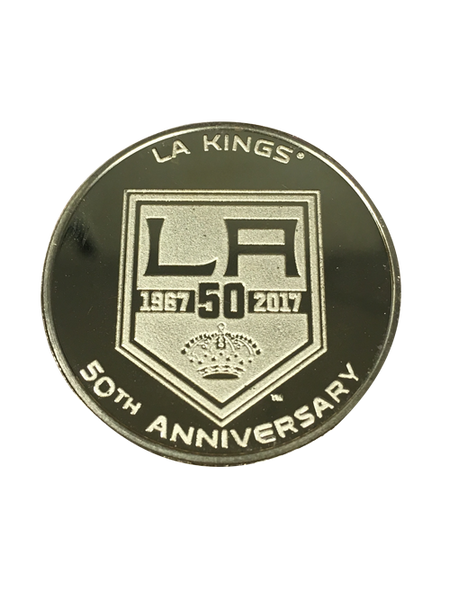 Los Angeles Kings 50th Anniversary Shield Gold Minted Coin
