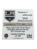LA Kings 50th Anniversary Crown Gold Minted Coin