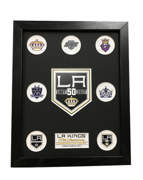 Los Angeles Kings 50th Anniversary Mint Coin Display Frame