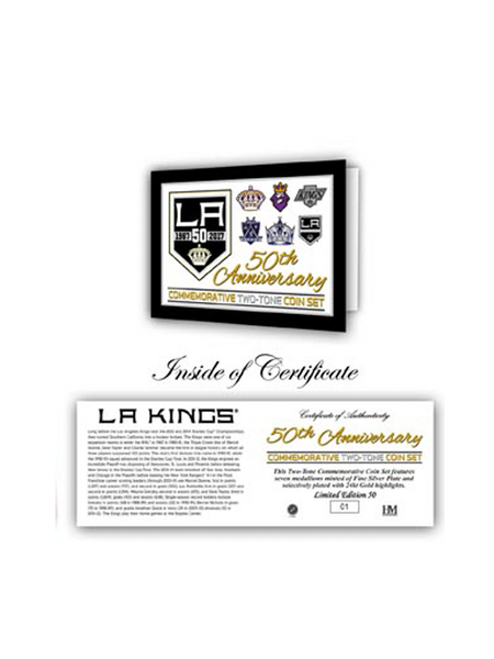 Los Angeles Kings 50th Anniversary Two Tone Mint Coin Set Frame
