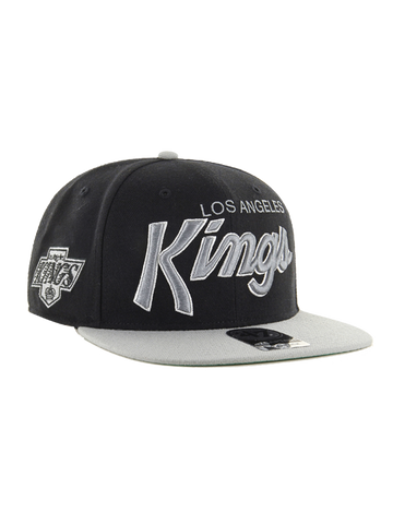 Los Angeles Kings Crosstown Script Chevy Two Tone '47 Captain Cap- Black