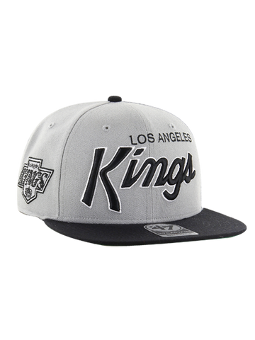 Los Angeles Kings Crosstown Script Chevy Two Tone '47 Captain Cap- Gray