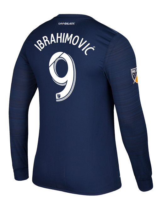 info for cce1e dd008 LA Galaxy Zlatan Ibrahimović Secondary Authentic Long Sleeve Jersey