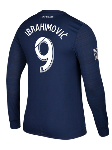 LA Galaxy Zlatan Ibrahimović Secondary Authentic Long Sleeve Jersey