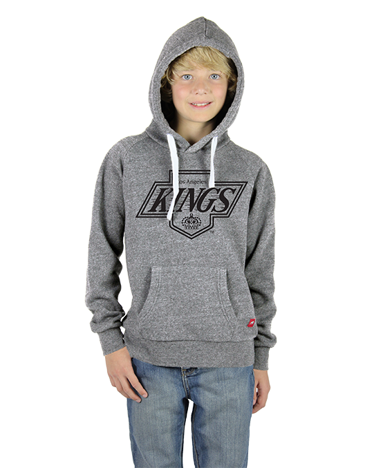 LA Kings Youth Chevy Logo Lil Olsen Hoody - Grey