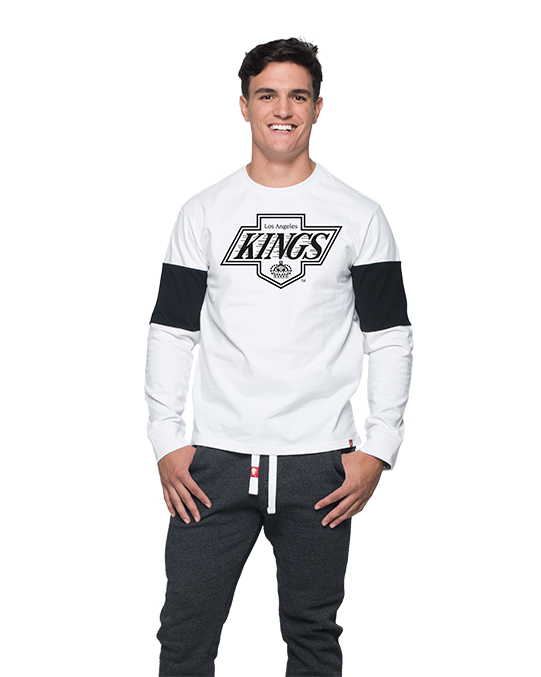 LA Kings Mens Chevy Logo Thorpe Long Sleeve  - White/Black