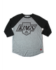 LA Kings Mens Chevy Logo Schwarber Short Sleeve Tee - Grey/Black