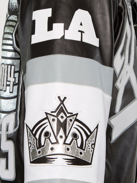 Los Angeles Kings Two Time Stanley Cup Champions Lambskin Leather Jacket