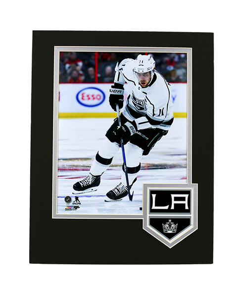 LA Kings Kopitar Framed Logo Photo