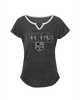 LA Kings Youth Girls Puck Texture Dolman Short Sleeve T-Shirt